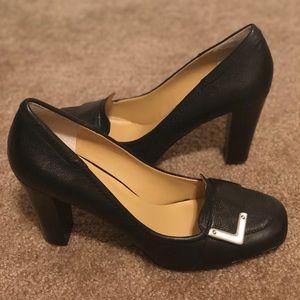Nine West Black Loafer Heel
